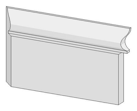 baseboard scribed and mitered