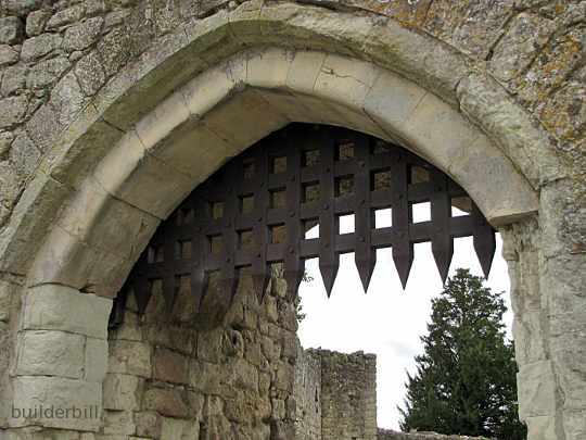 a gothic arch to a medieval gateway