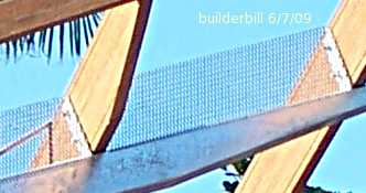 vermin mesh during construction