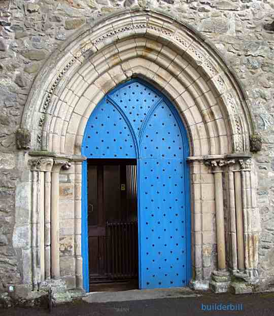an old equilateral arched doorway