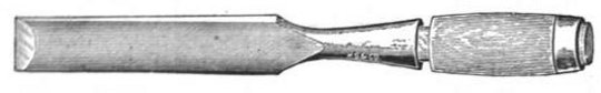 A large firmer chisel