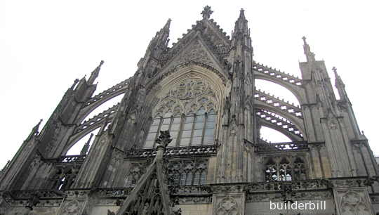 A flying buttress at Colgne Cathredral