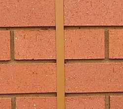 neat control joint in brickwork
