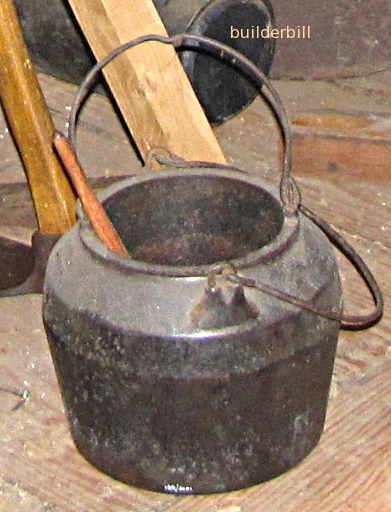 a cast iron glue pot
