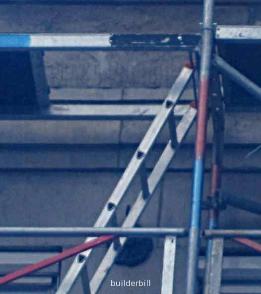 a ladder in a scaffold.