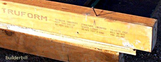 laminated softwood joist