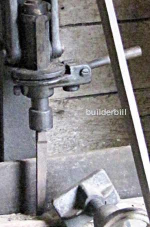 detail of chisel swivel