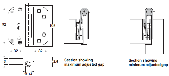 movable butt hinge