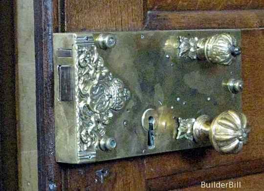 an old brass rim locl
