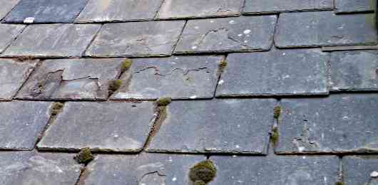 an old slate roof