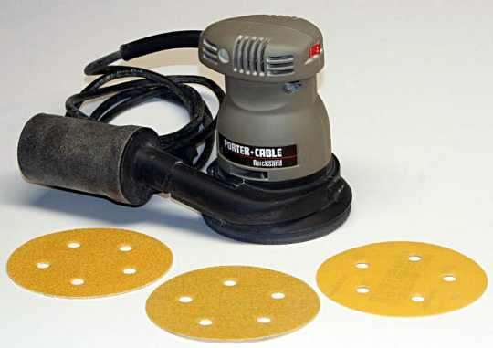 A small Porter Cable palm sander