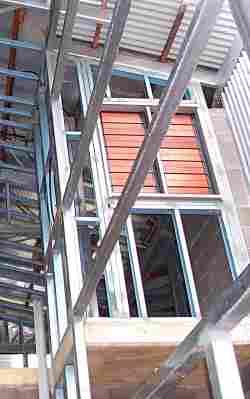 wall frame in steel