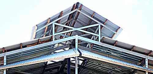 Steel and timber roof structure