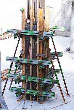 column for using through bolts