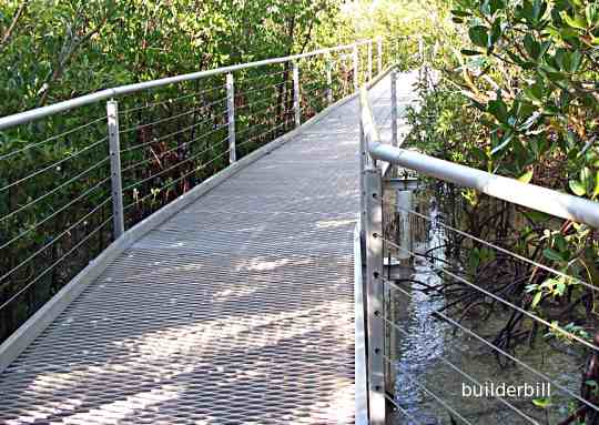 a stainless steel wire balustrade